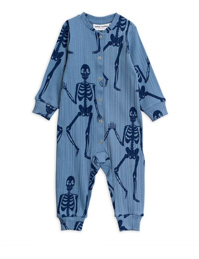 Mini Rodini - Skeleton aop jumpsuit, Blue