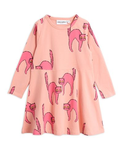 Mini Rodini - Catz ls dress, Pink