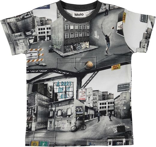 Molo Kids - Ragnij T-shirt SS, City Text