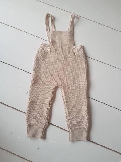Tinycottons - solid baby dungarees, dark nude