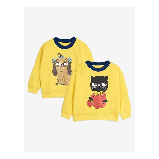 Mini Rodini - Yellow reversible sweatshirt, Yellow