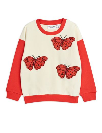 Mini Rodini - Butterflies sweatshirt, Red