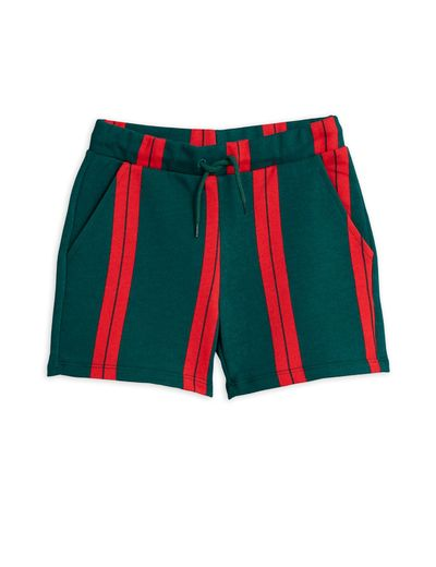 Mini Rodini - Stripe sweatshorts, Green
