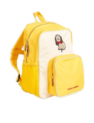 Mini Rodini - Dashing dog school bag, Yellow