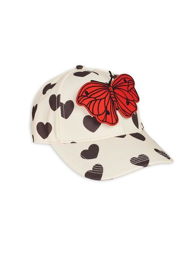 Mini Rodini - Hearts cap, White