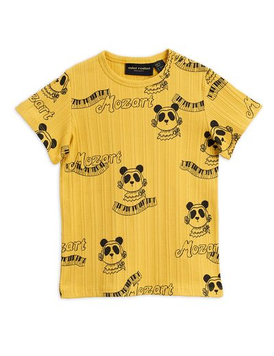 Mini Rodini - Mozart aop ss tee, Yellow