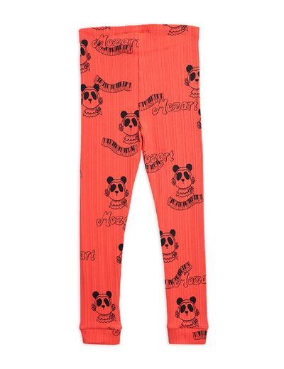 Mini Rodini - Mozart aop leggings, Red