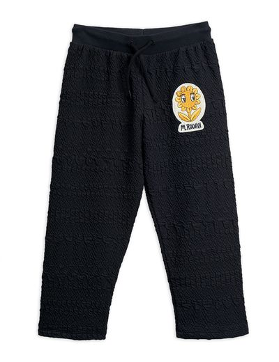 Mini Rodini - Flower patch sweatpants, Black