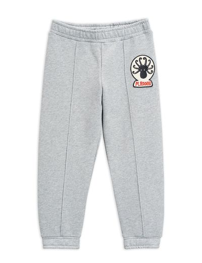 Mini Rodini - Octopus patch sweatpants, Grey melange