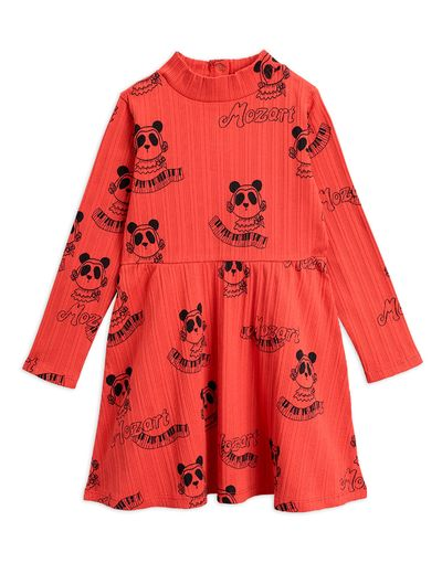Mini Rodini - Mozart aop ls dress, Red
