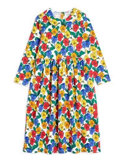 Mini Rodini - Violas ls collar dress , Multi