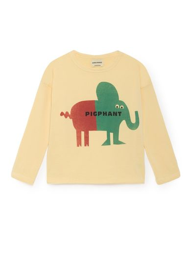 Bobo Choses - Pigphant Round Neck T-Shirt, Dusky Citron