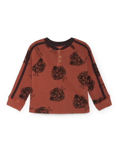 Bobo Choses - Clearly Confused Buttons T-Shirt, Burnt Ochre