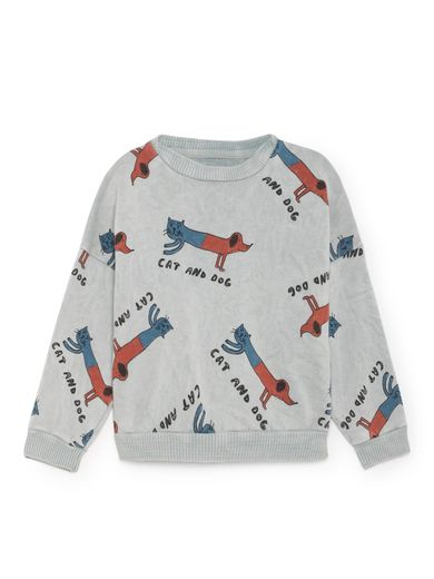 Bobo Choses - Cats and Dogs Round Neck Sweatshirt, High-Rise