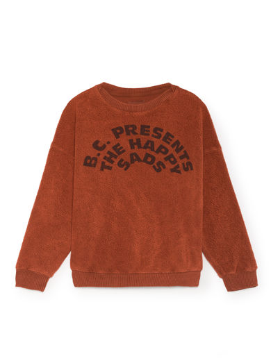 Bobo Choses - The Happy Sads Sheep Skin Fleece Sweatshirt, Burnt Ochre
