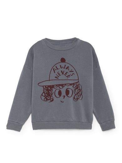 Bobo Choses - Always Never Round Neck Sweatshirt, Dusty Blue