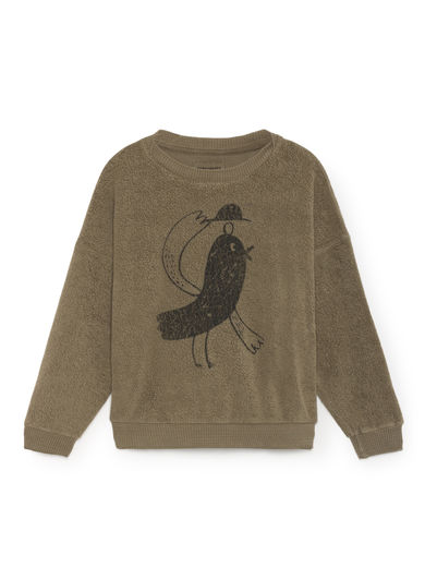 Bobo Choses - Bird Sheep Skin Fleece Sweatshirt, Deep Lichen Green
