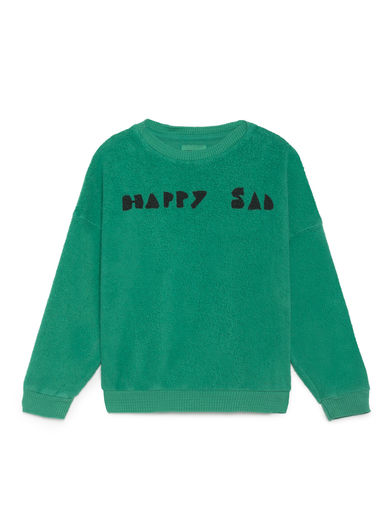 Bobo Choses - The Happy Sads Sheep Skin Fleece Sweatshirt, Viridis