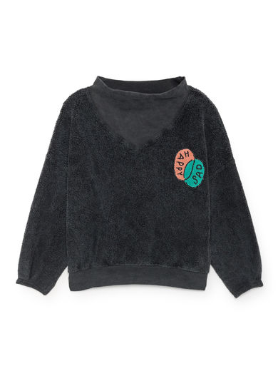 Bobo Choses - Happy Sad Rib Collar Sweatshirt, Multicolour