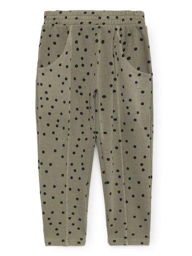 Bobo Choses - Confetti Front Seam Trousers, Deep Lichen Green
