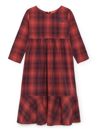 Bobo Choses - Rainbow Flounce Dress, Red Clay