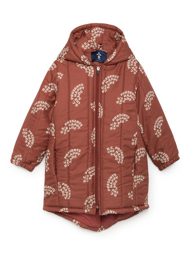 Bobo Choses - The Happy Sads Padded Anorak, Burnt Ochre