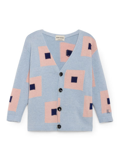 Bobo Choses - Squares Cardigan, Heritage Blue