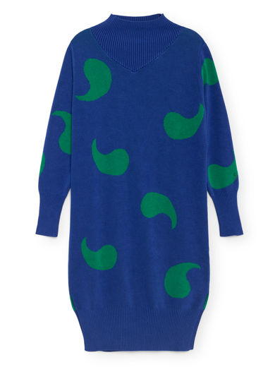 Bobo Choses - Knitted Dress, Turkish Sea