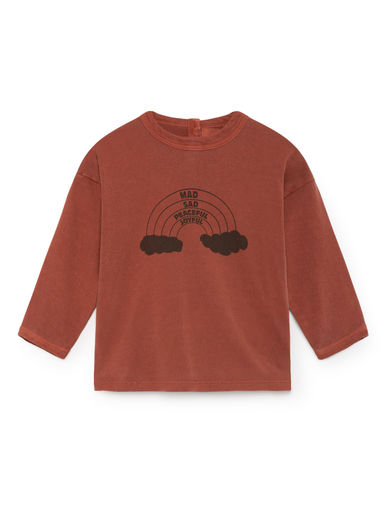 Bobo Choses - Rainbow Round Neck T-Shirt, Burnt Ochre