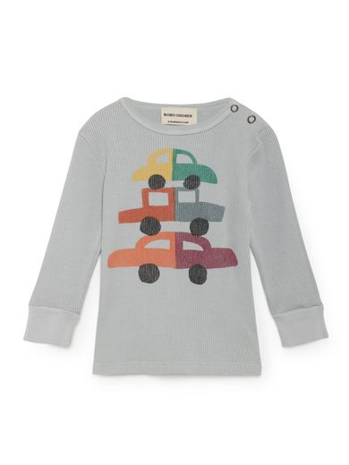 Bobo Choses - Cars Rib T-Shirt, High-Rise