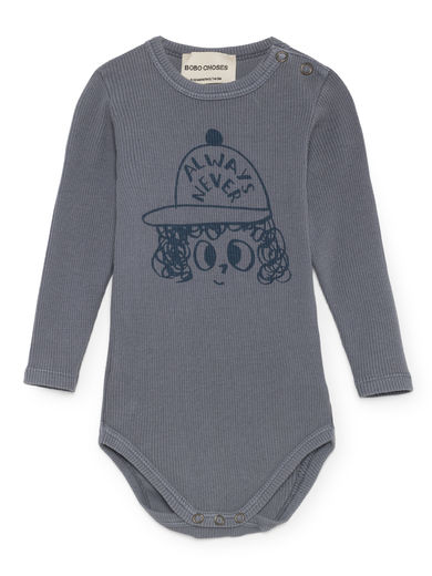 Bobo Choses - Always Never Long Sleeve Body, Dusty Blue
