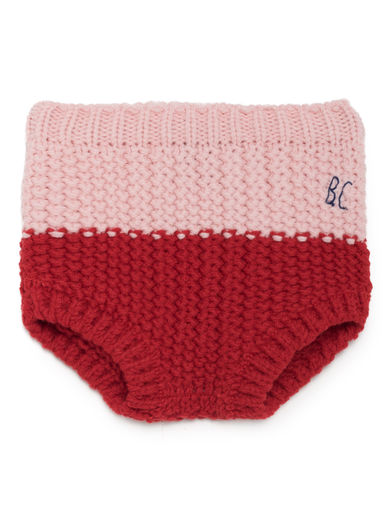 Bobo Choses - Red Knitted Culotte, Red Clay