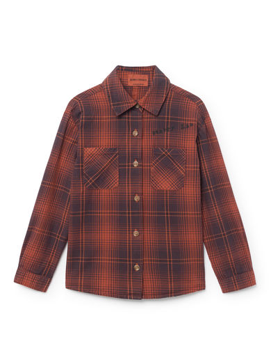 Bobo Choses - Red Tartan Shirt, Burnt Ochre