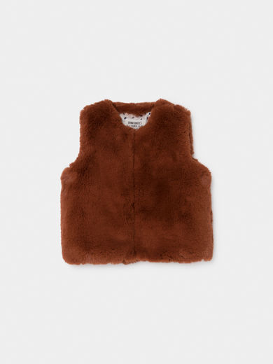 Bobo Choses - Brown Baby Faux Fur Vest, Baby (219198)