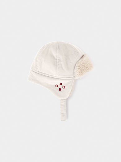 Bobo Choses -  Beige Sheepskin Baby Hat (219277)