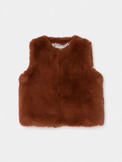 Bobo Choses - Brown Faux Fur Vest (219286)