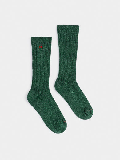 Bobo Choses - BC Green Lurex Socks ( 219308)