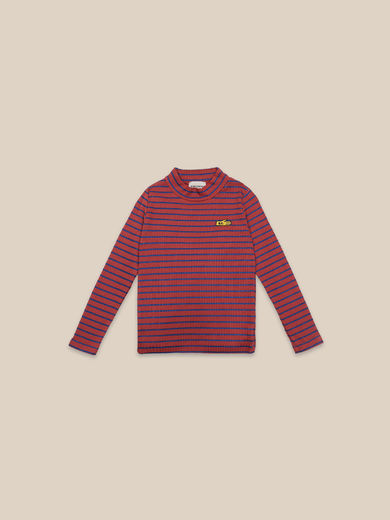 Bobo Choses - Striped Turtle Neck T-shirt (22001019)