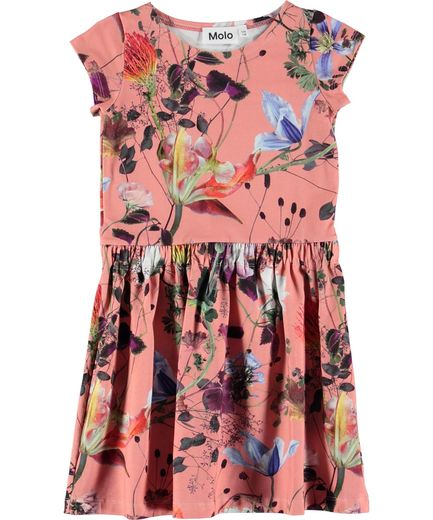 Molo Kids - Carla Dress LS, Flowers Of The World