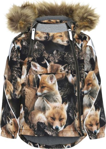 Molo Kids - Hopla Fur jacket, Fox Camo