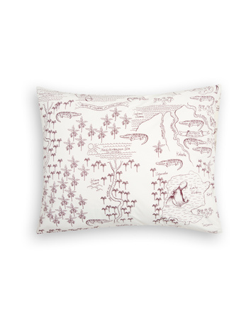 Mini Rodini - Croco map pillowcase, offwhite