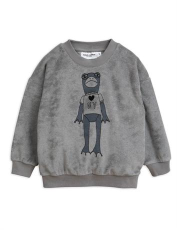Mini Rodini - Frog sp terry sweatshirt, grey