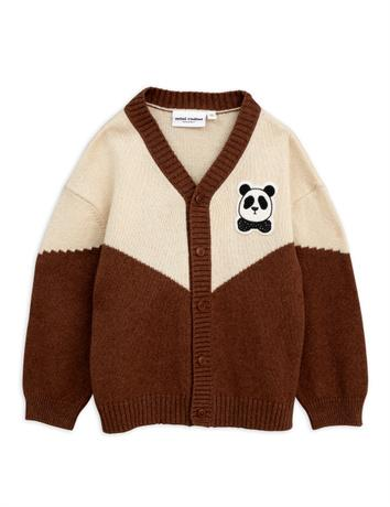 Mini Rodini - Panda knitted wool cardigan, brown