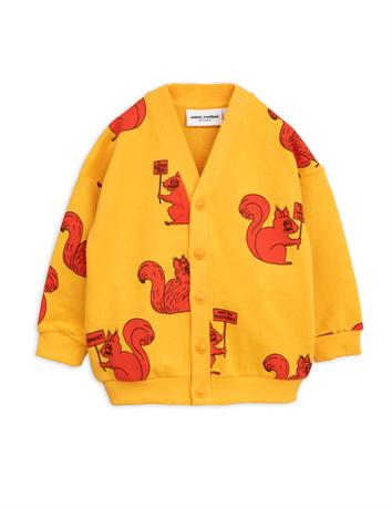 Mini Rodini - Squirrel cardigan, yellow
