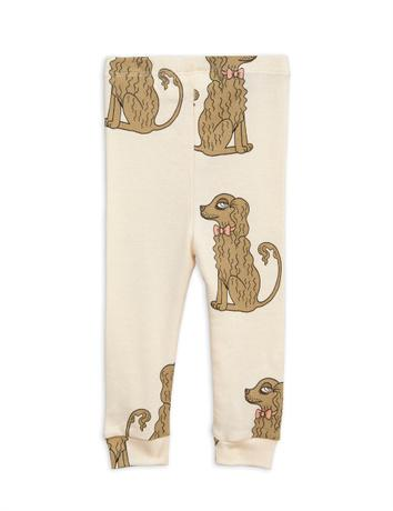 Mini Rodini - Spaniel leggings, offwhite