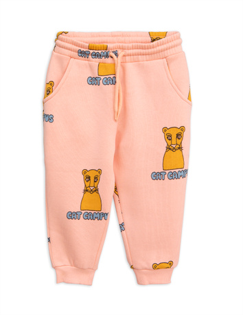 Mini Rodini - Cat campus sweatpants, pink