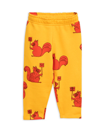 Mini Rodini - Squirrel sweatpants, yellow
