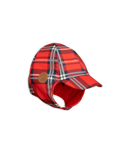Mini Rodini - Alaska check cap, red