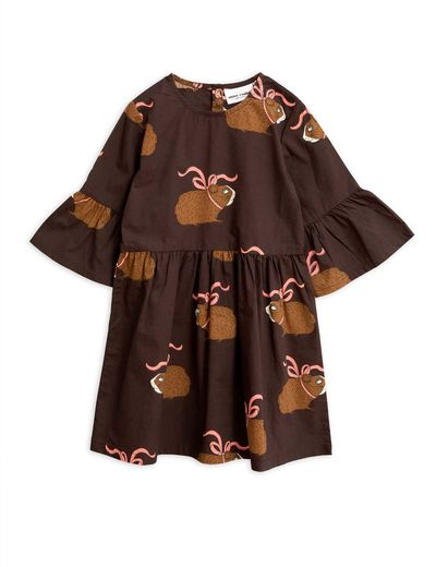 Mini Rodini - Posh guinea pig dress, Brown