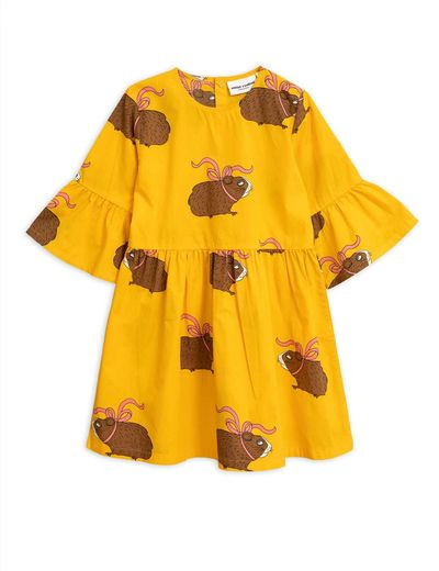 Mini Rodini - Posh guinea pig dress, yellow